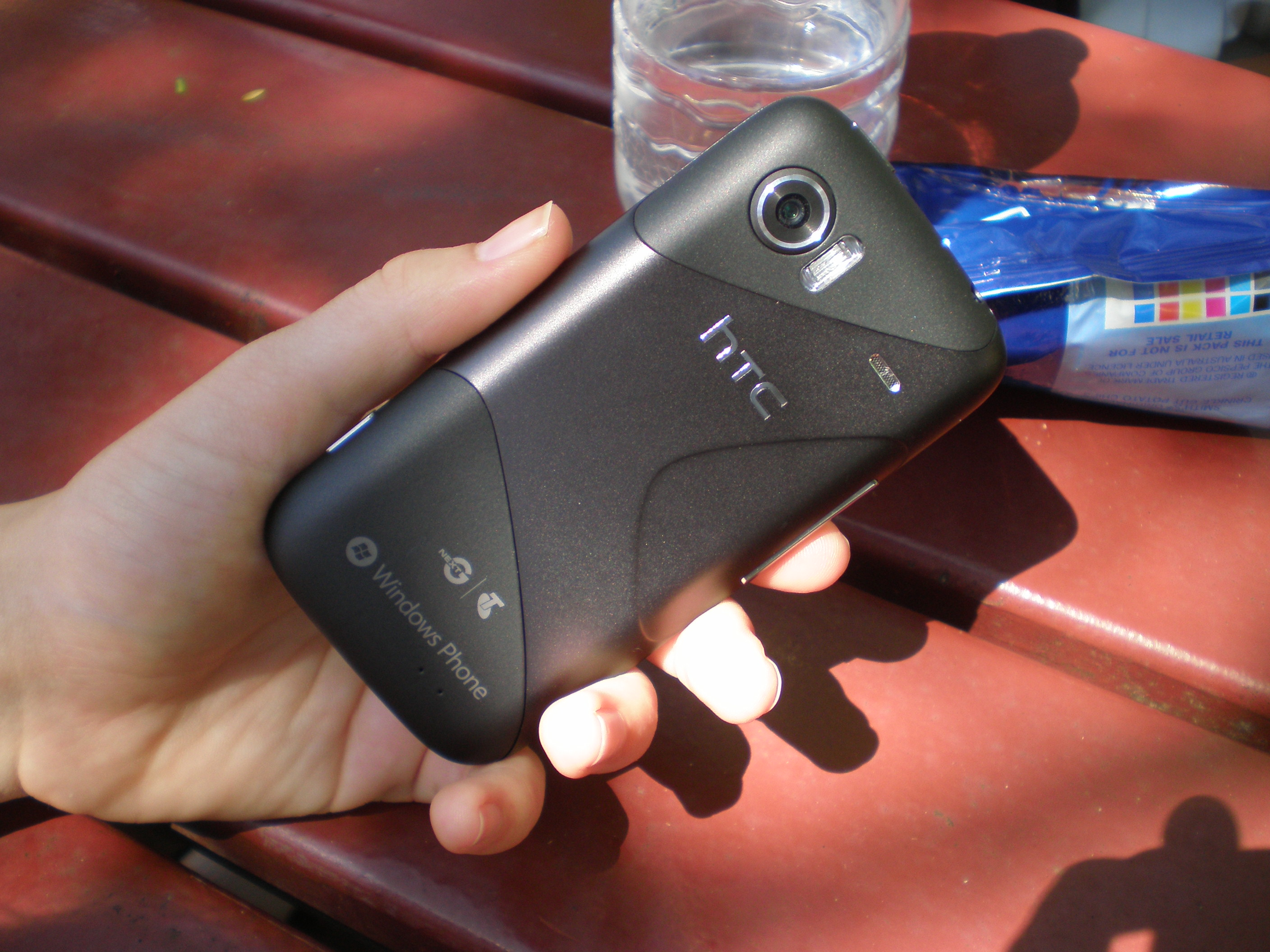A Windows Phone 7 handset with a musical and photography focus
