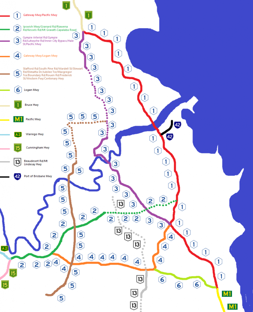 Brisbane's Route Numbering System 2004